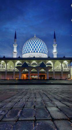 Shah Alam Mosque Mosque Masjid Shah Alam Islam Muslim Salahuddin Abdul Aziz Shah No People