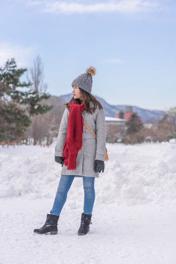 Asian  Japan Japan Photography Japanese  Sapporo,Hokkaido,Japan Snow ❄ Woman Adult Clothing Cold Temperature Day Field Full Length Hat Land Leisure Activity Lifestyles Nature One Person Outdoors Portrait Real People Sapporo Scarf Snow Snowing Standing Warm Clothing Winter Young Adult