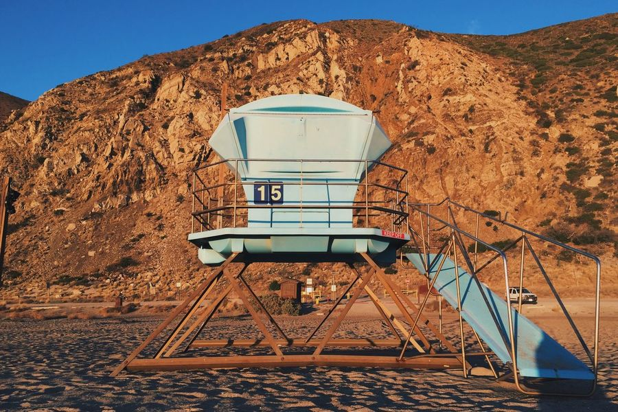 Lifeguard Tower 15 No People Low Angle View Outdoors Mountain Nature Beauty In Nature Sky Day Architecture Lifeguard Hut Life Guard Tower Beach California Sunset Point Mugu State Park