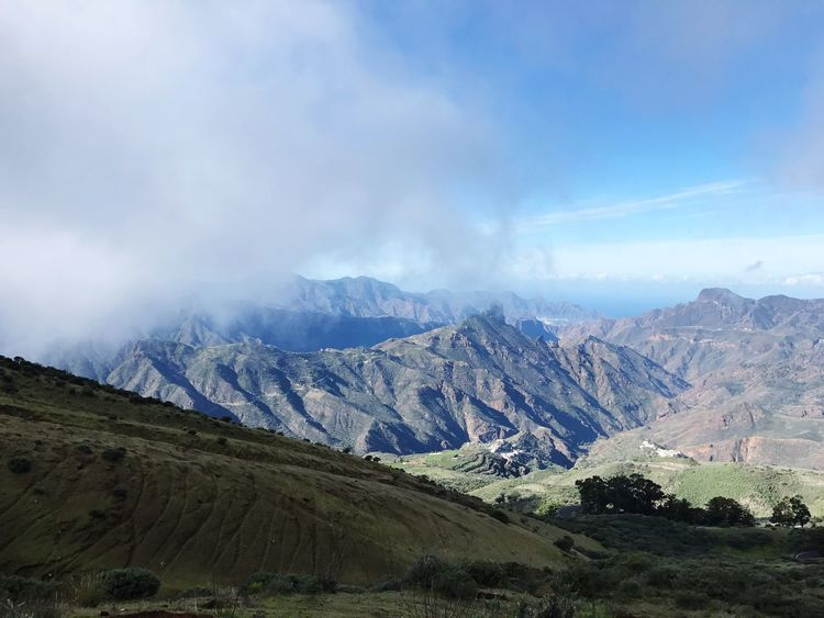 Gran Canaria Tejeda Mountain Nature Mountain Range Sky Beauty In Nature Tranquil Scene Scenics No People Cloud - Sky Landscape Tranquility Day Outdoors Range