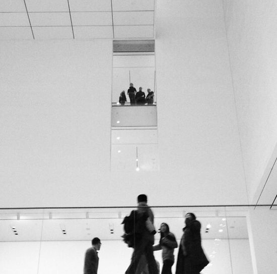 Casually walking through the moma. How my eyes interpreted this scene. The Standoff Calmbeforethestorm Tension Rivalry