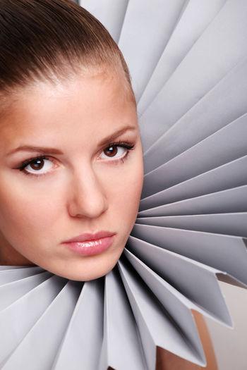 Close-Up Portrait Of Fashionable Woman