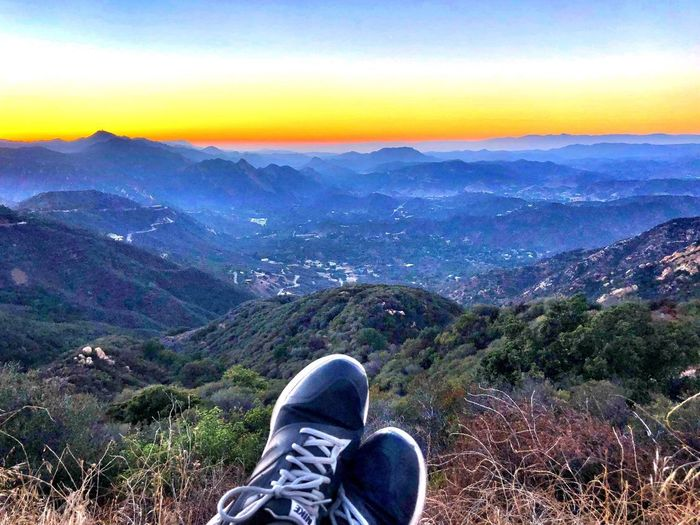 Shoe Scenics - Nature Mountain Beauty In Nature Personal Perspective Human Body Part Human Leg Sky Tranquility Environment Nature