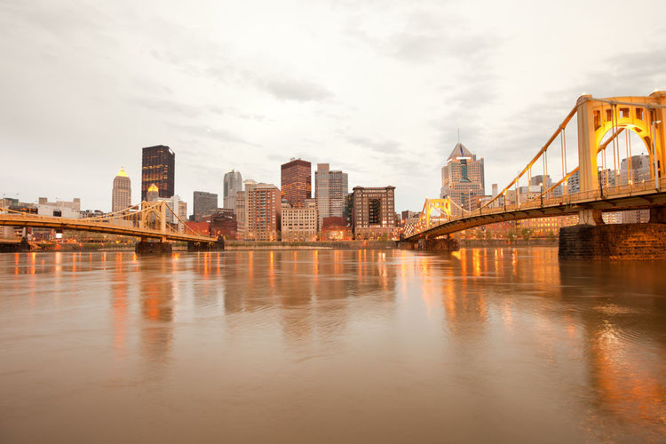 Downtown skyline and allegheny river, pittsburgh, pennsylvania, united states