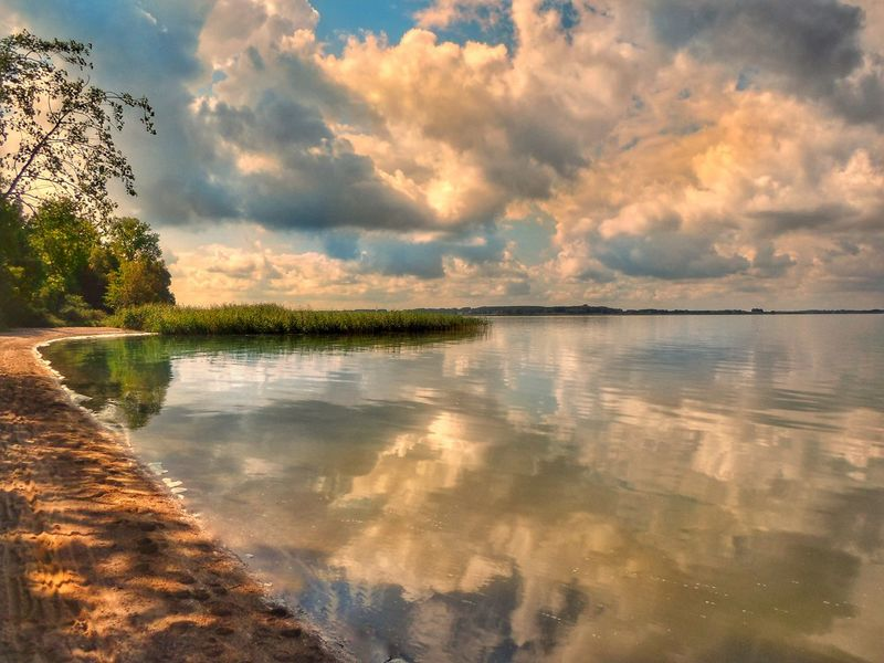 Baltic Sea Achterwasser Reflection Water Sky Lake Nature Cloud - Sky Tranquil Scene Tranquility Scenics Beauty In Nature No People Tree Outdoors Landscape Day Ostseeküste Landscape_Collection Mood Nikon Summer Beach