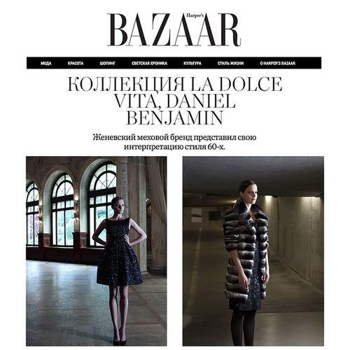 La Dolce Vita with Daniel Benjamin Geneva at Harper's Bazaar@danielbenjamingenevaFürs Luxury Dress Harper 's bazaar