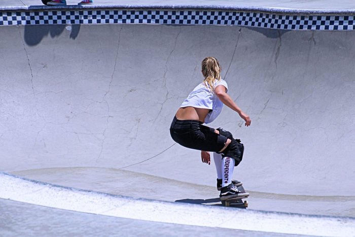 Daughter like Mom. Or the other way around??? Day Full Length Skateboard, Sport, Skateboarding, Skateboarder, Leisure, Skate, Park, Fun, People, Skater, Lifestyle, Outdoor, Active, Skating, Horizontal, Culture, Recreation, Board, Youth, Urban, Old, Healthy, Spirit, Youthful, Activity, Balance, Close-up, Extreme, Sty Skateboarding, Female, Girls, Mother, Drop In, Skateboarding, Skateboard, Skateboarders, BMX, Bicycle, Jumping, Ramps, Extreme Sports, Crashes, San Diego, California,