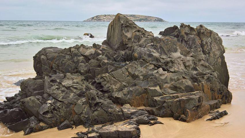 Sea Water Beach Sand Wave Rock - Object Sky Close-up Rocky Coastline Rugged Coastline Coastal Feature Seascape