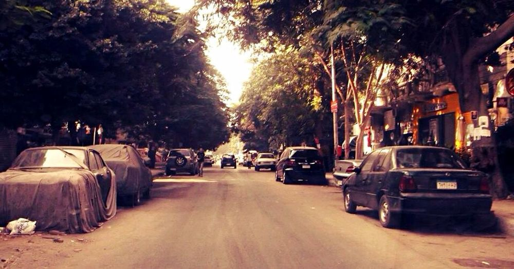 Hanging Out Taking Photos Enjoying Life Check This Out Hello World Lovely Weather Oldpicture Driving Streetphotography Street 9 Maadi Trying New Things Having Fun Getting Inspired From A Moving Vehicle Loneliness Cruising Around Trees Beautiful Day