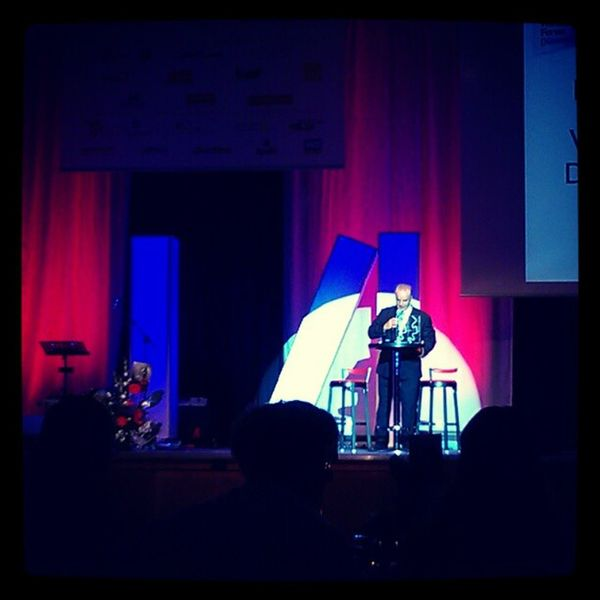 Begrüßung beim Galaabend #wfd2012 #wfd Wfd2012 Wfd