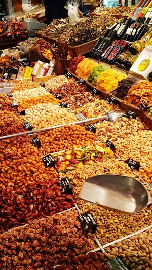 Food Foodmarket Barcelona Spain🇪🇸 Nuts Larambla Delicous Streetfood Travel Vacation Europe