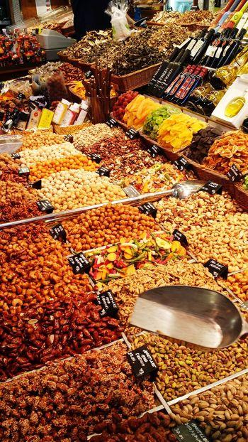 Food Foodmarket Barcelona Spain🇪🇸 Nuts Larambla Delicous Streetfood Travel Vacation Europe