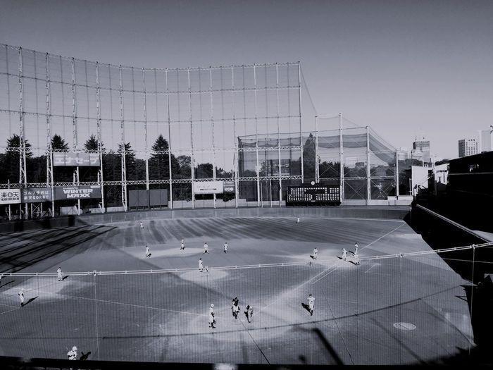 Baseball Stadium Monochrome