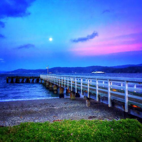 Dusk at Seatoun Wharf ..... Nature Sunset Sky Water_collection Clouds New Zealand IPhoneography Wellington