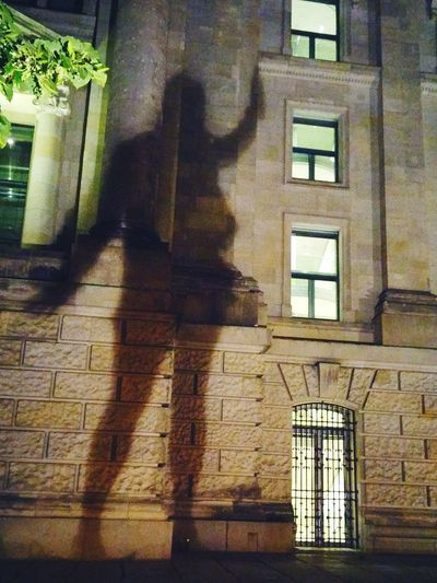 EyeEmNewHere Window Architecture Built Structure Shadow Building Exterior b Building Outdoors Night Berlin Germany🇩🇪 Giant The Street Photographer - 2017 EyeEm Awards