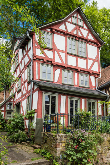 Architecture Building Exterior Façade Germany GERMANY🇩🇪DEUTSCHERLAND@ Half Timbered House Marburg An Der Lahn Old Pastel Power Residential Structure Wood Architecture