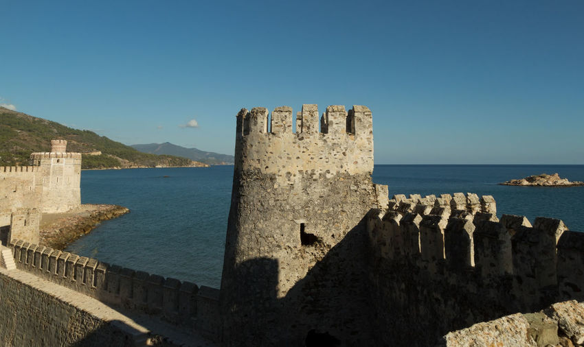 Mamure Castle Historical Sights Mamure Castle Mamure Kalesi Mediterranean  Mediterranean Sea Perspectives On Nature Rock Turkey Anamur Archtitecture Beauty In Nature Built Structure Byzantine Horizon Over Water Old Ruin Roman Scenics Sea Sky Stone Structure Sunlight Tower Travel Destinations Water