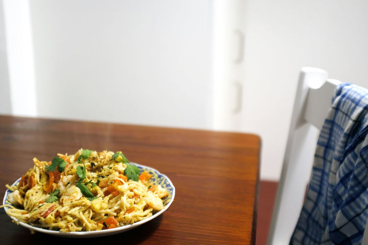 Close-up of food on table at home