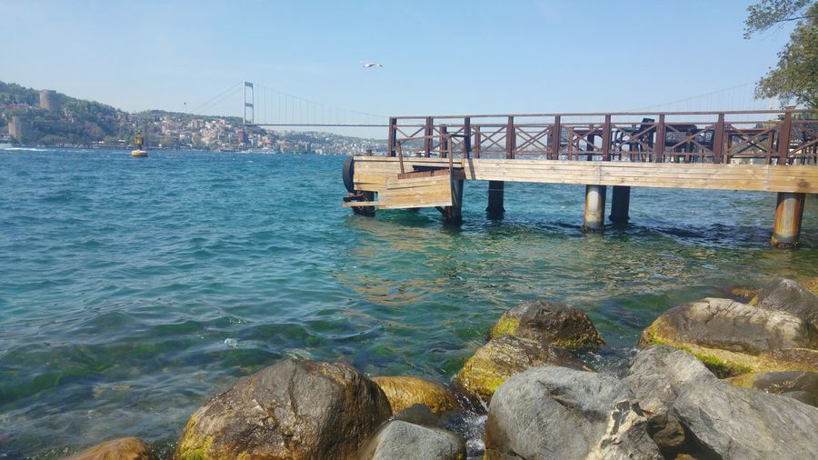Outdoors Day Rollercoaster Sea Bridge - Man Made Structure Water Beach No People Sky Clear Sky Architecture Nature