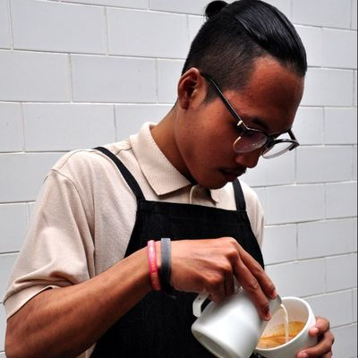 Man without coffee is nothing Latteart Latteporn Coffeeaddict Cofeegeek barista vivabarista instamood surabaya indonesia