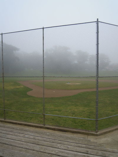Are you ready for the season? Baseball Baseball Field Before The Game Daylightfading Fall Fé Mist Misty Days Park Quiet San Francisco Sunday