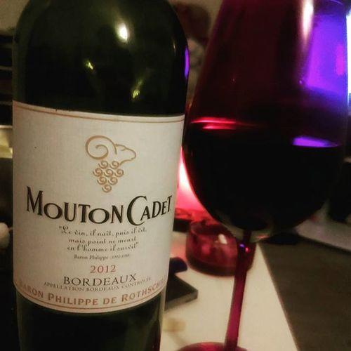 Le vin, il naît, puis il vit, mais point ne meurt en l'homme il survit. 👍🍸❤Bordeaux Douceur Copines MoutonCadet Wine