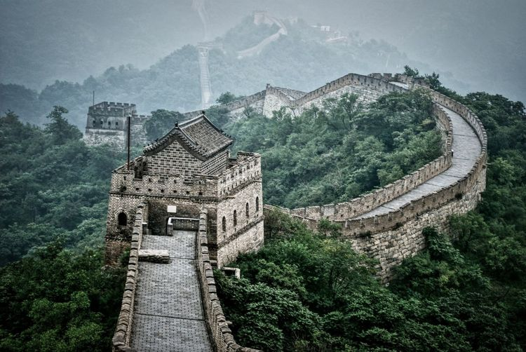 Great Wall of China EyeEmNewHere Great Wall Great Wall Of China Architecture Tree Plant Built Structure History The Past Building Exterior Travel Destinations Nature No People Ancient Outdoors Tourism Day Building Travel Mountain Green Color High Angle View Growth