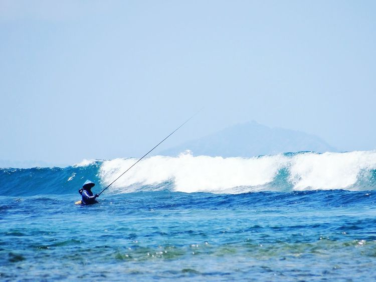 Blue Wave Sea Meer Travelphotography Seaview Fishing Bali, Indonesia Scenics