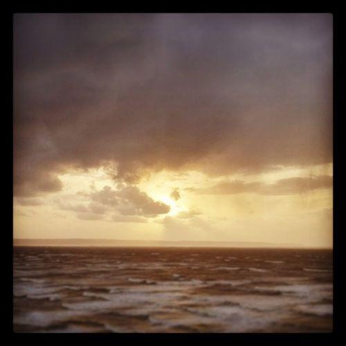 """Rough Seas"" Storm Roughseas Sea Surf Seascape Stormyweather Wintershot Winter Bidefordbay Saunton Sauntonsands Clouds Cloudporn Sunset"