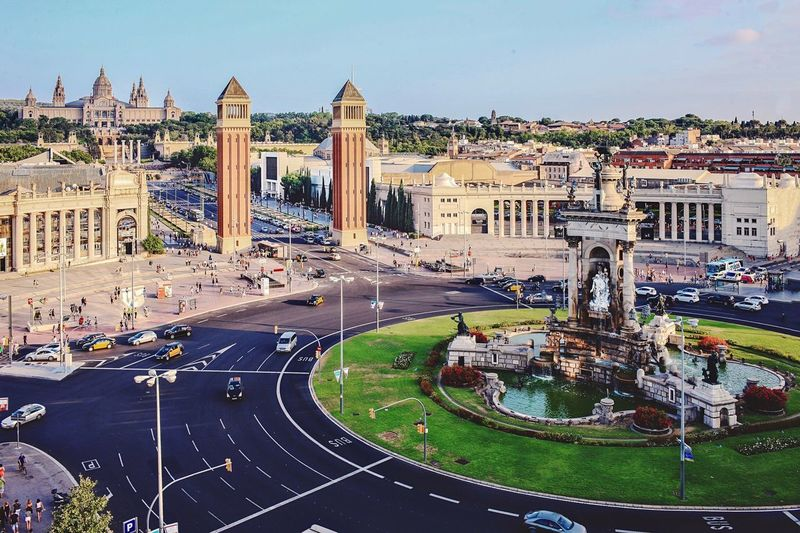 Panorama of Barcelona downtown Panoramic Landscape Panoramic View Top Tourist Destination Moniments Historical Building Monument Architecture Built Structure Travel Destinations Tourism Building Exterior History Travel Day Outdoors Sky City Clear Sky EyeEmNewHere Stories From The City