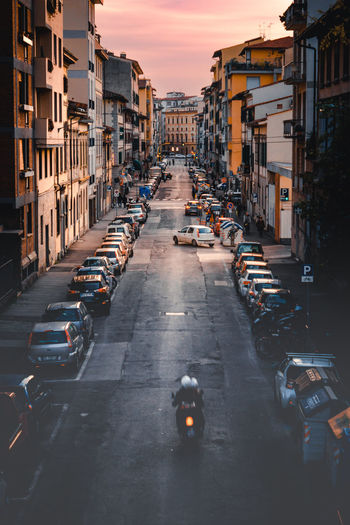 City Dusk Sky Travel Destinations Architecture Outdoors Symmetrical EyeEm Best Shots EyeEm Gallery EyeEm Eye4photography  EyeEm Best Edits Florence, Italy High Angle View Streetphotography Europe Motorcycle Cars The Street Photographer - 2017 EyeEm Awards