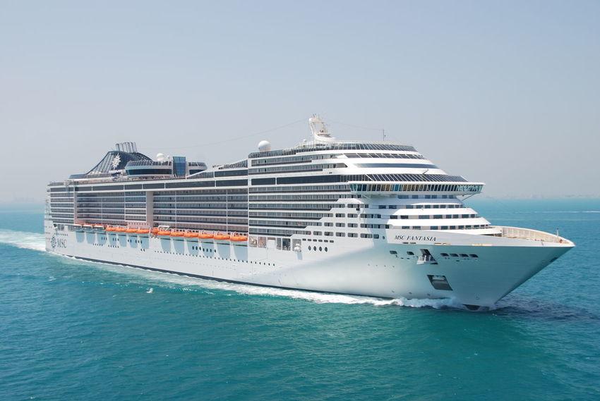 Clear Sky Cruise Cruise Ship Cruiseship Cruising Mode Of Transport Msc MSC FANTASIA Msccruise Nautical Vessel No People Sea Transportation Water