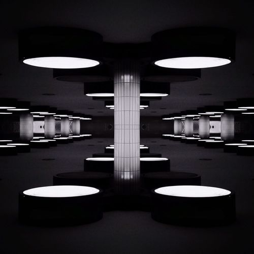 Illuminated lights in basement