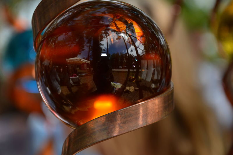 Close-up of glass with ball