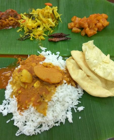 Freshness Food Food And Drink Banana Leaf Indoors  Plate No People Ready-to-eat Close-up Healthy Eating Day Malaysian Food Indian Food Vegetarianfood Curry And Rice