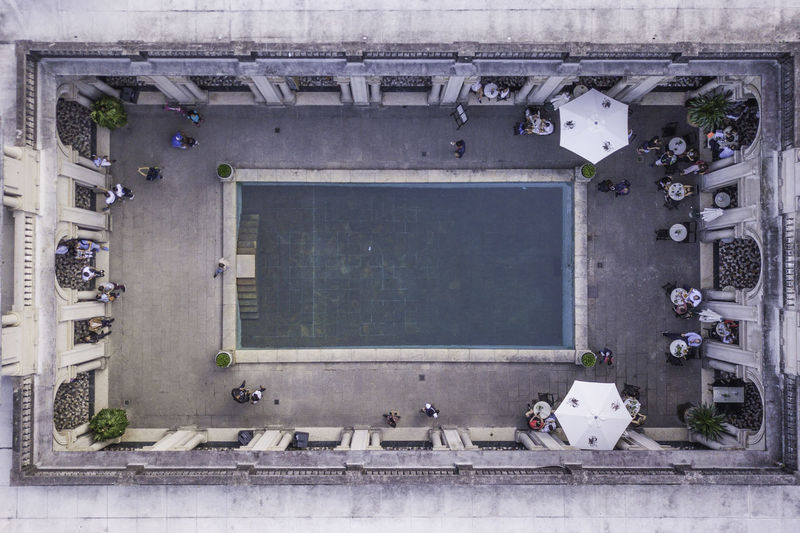 Ways Of Seeing Be. Ready. Architecture Blue Building Day People Restaurant Swimming Pool This Is Latin America #urbanana: The Urban Playground