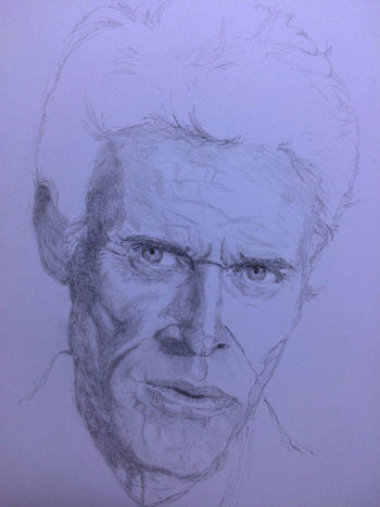 Willem Dafoe Drawing Art ArtWork Art, Drawing, Creativity MyDrawing ウィレムデフォー プラトーン Platoon Color Portrait