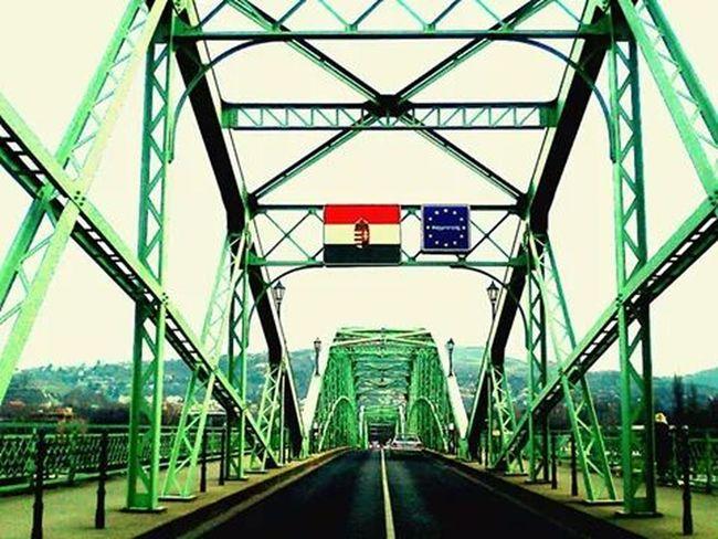 Bridge Hungary Slovakia Flag Vashing Point