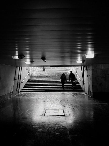 City Man Women Travel -15°C Streetphotography Street Blackandwhite Oldman No People Steps Night Illuminated Adults Only Architecture Indoors  People