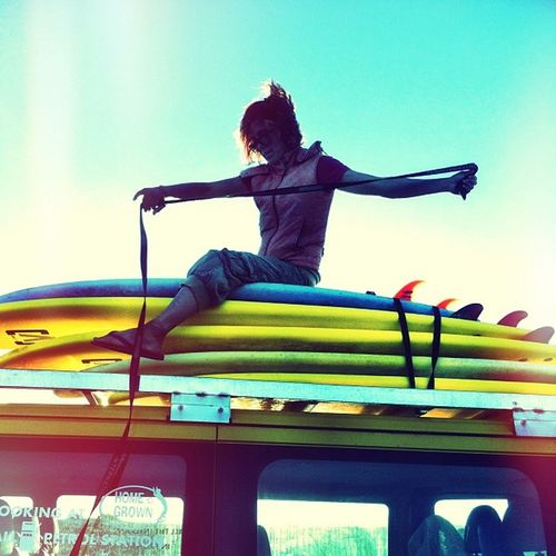 She ride the wild surf