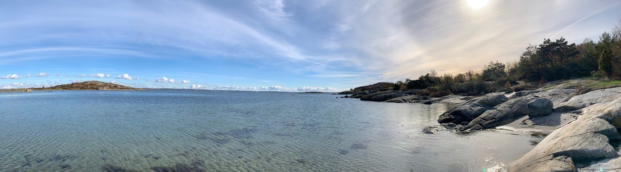 Sky Beauty In Nature Cloud - Sky Tranquility Scenics - Nature Water Tranquil Scene Sea Nature No People Panoramic First Eyeem Photo EyeEmNewHere