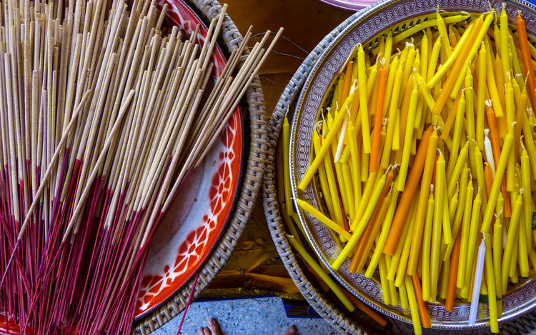 Candles Choice Close-up Day Food Incense Stick And Candles Incense Sticks Indoors  No People Variation Yellow