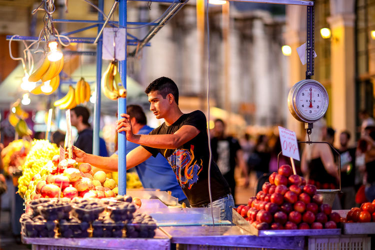 Fruit stall Athens Choice Display Food Fruit Fruit Stall Greece Market Market Stall Monastiraki Monastiraki Square Monastiraki Square, Athens Ready-to-eat Retail  Scales Shop Store Vendor