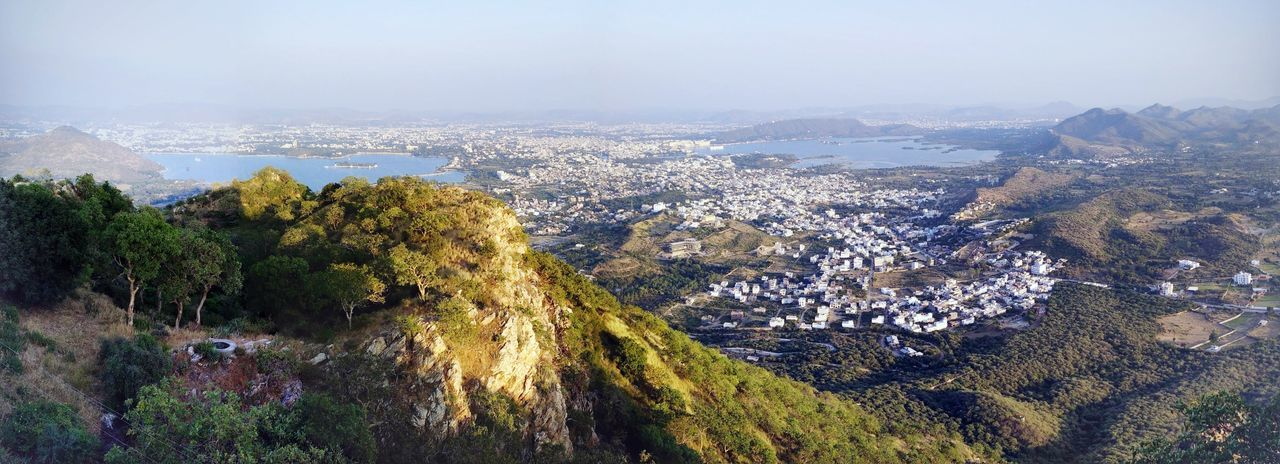 Aerial view of Udaipur, beatiful city