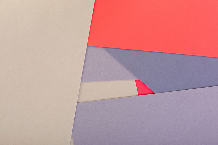 High angle view of multi colored paper on wall