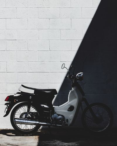 Underbones Wanderlust Travel Bike Transportation Mode Of Transportation Shadow Land Vehicle No People Stationary City Scooter Motorcycle Visual Creativity