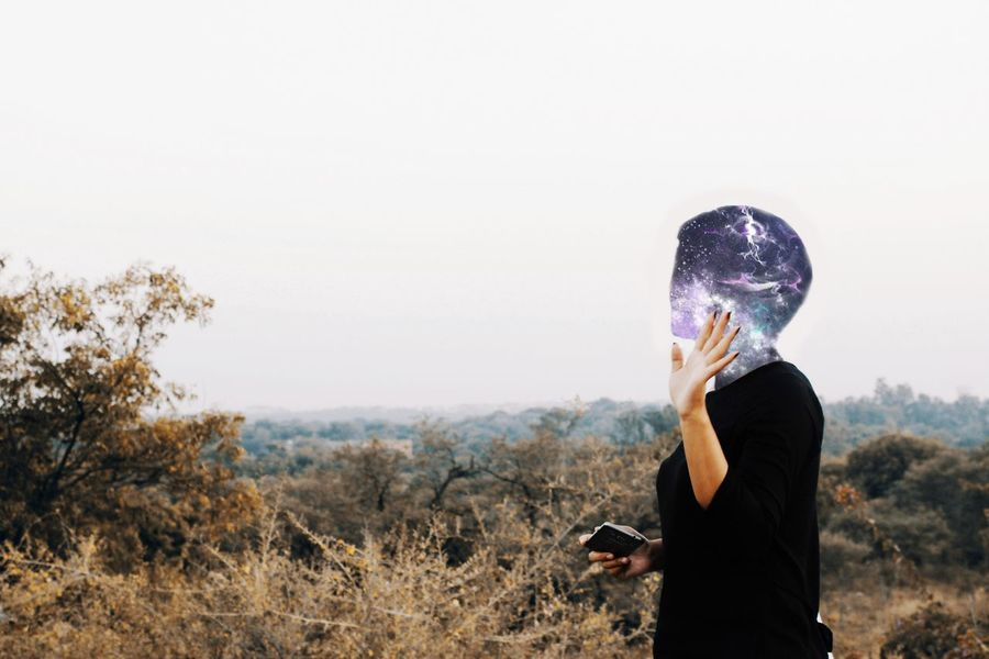 Faceless Noface People Nature Warm Warmtones Warm Tones Outdoor Outdoor Photography Natural Light Cut And Paste Galaxy Universe Stars