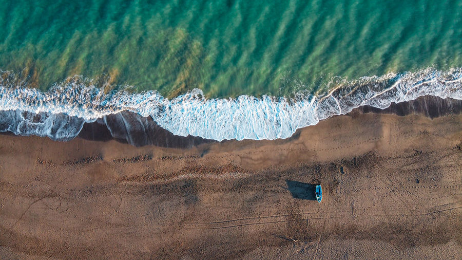 Drone areal view of beach