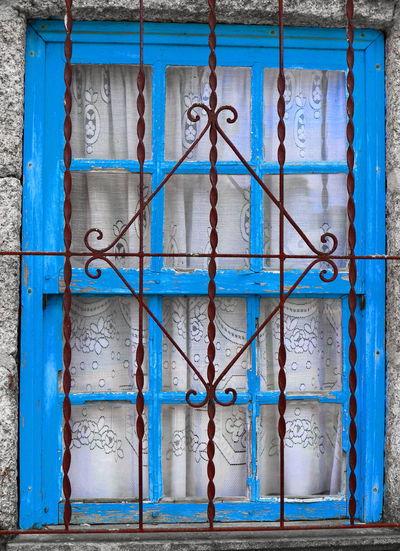 Full frame shot of closed metal door of building