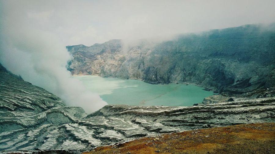 Scenic View Of Lake At Ijen Volcano